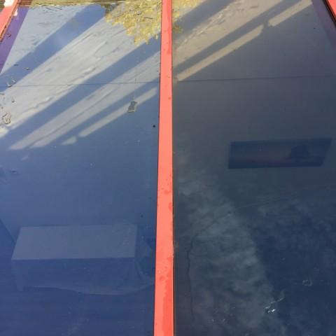 Zonwerend dubbel glas vervangen in lichtstraat gallerij afbeelding 4